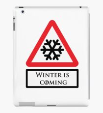 Road Sign - Winter is Coming iPad Case/Skin