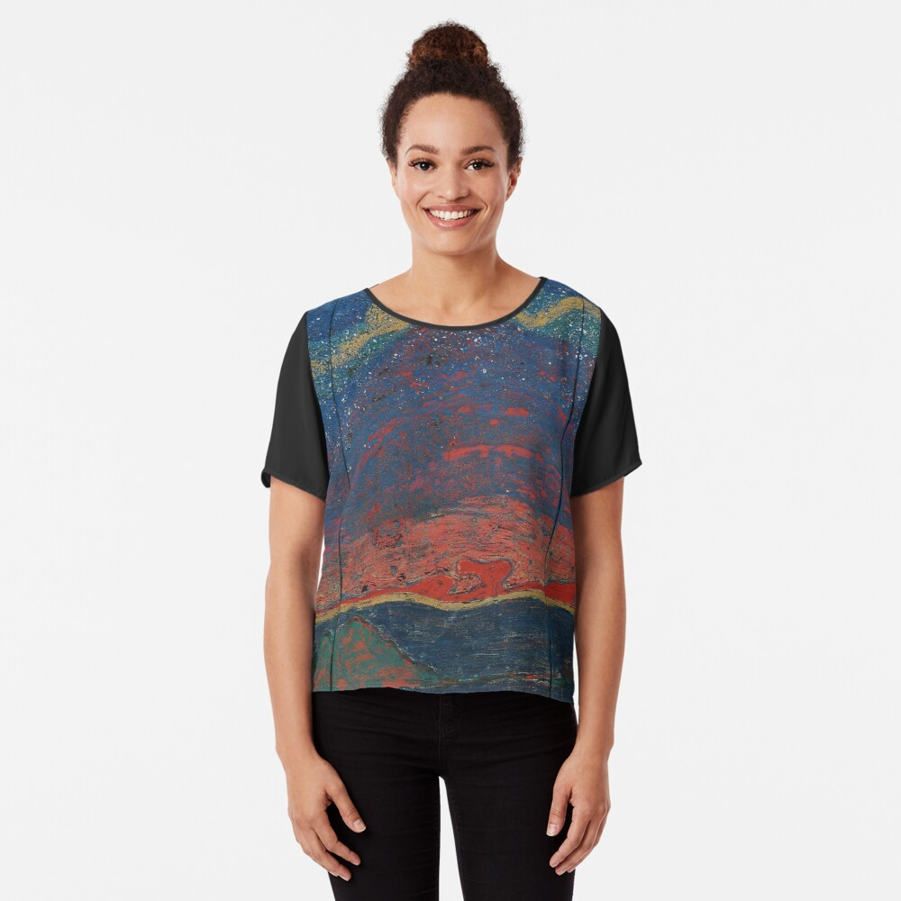 Lacquer Painting, Lacquer Paintings, Lacquer, Painting, Paintings Chiffon Top