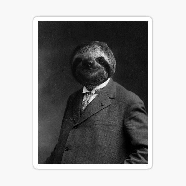 Gentleman Sloth 8#  Sticker