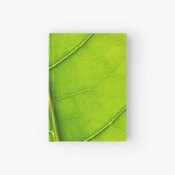 Eco green leaf Hardcover Journal