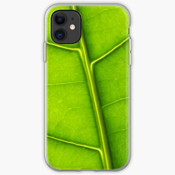 Eco green leaf iPhone Soft Case