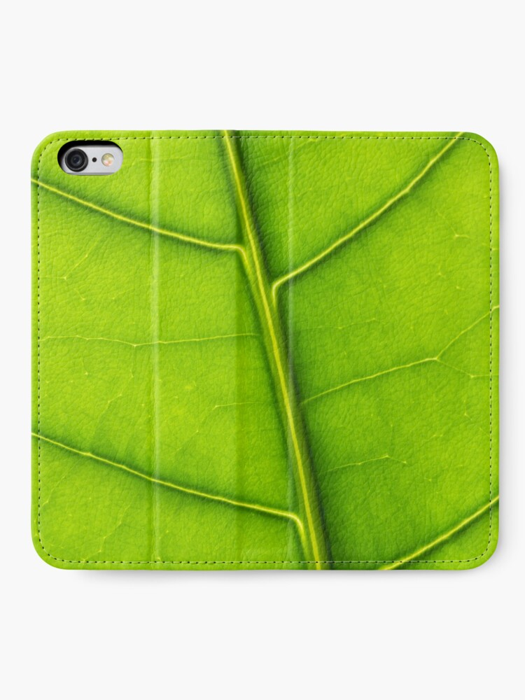 Alternate view of Eco green leaf iPhone Wallet