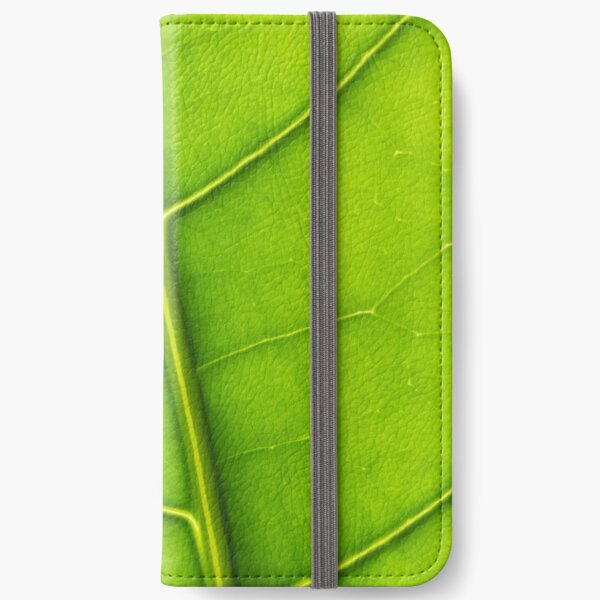 Eco green leaf iPhone Wallet