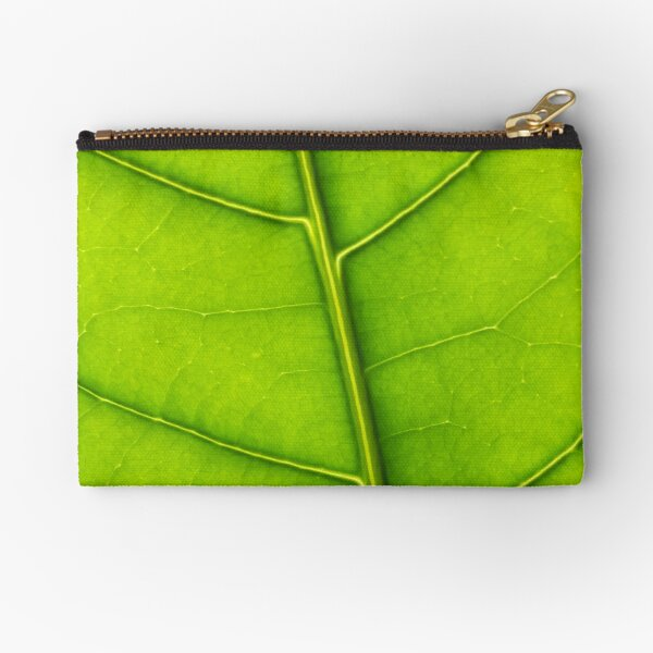 Eco green leaf Zipper Pouch