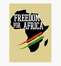 FREEDOM FOR AFRICA Photographic Print