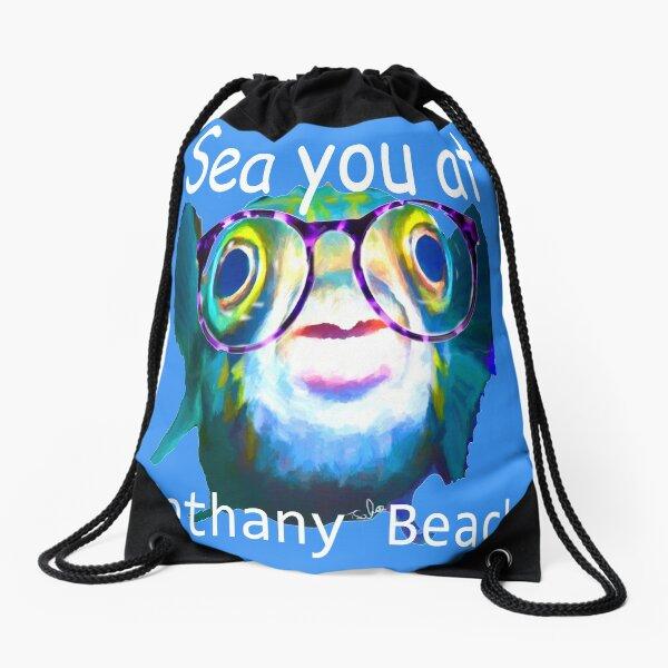 Sea You at Bethany Beach by Tom Sachse    Drawstring Bag