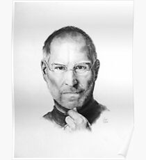 Steve Jobs Pencil Drawing Poster