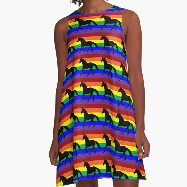 Rainbow Unicorn! A-Line Dress