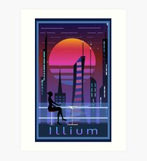 Mass Effect Illium Travel Poster Fan Art Art Print