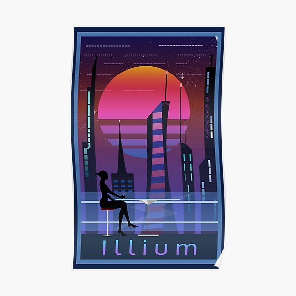 Mass Effect Illium Travel Poster Fan Art Poster