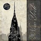 Moon Over New York by mindydidit