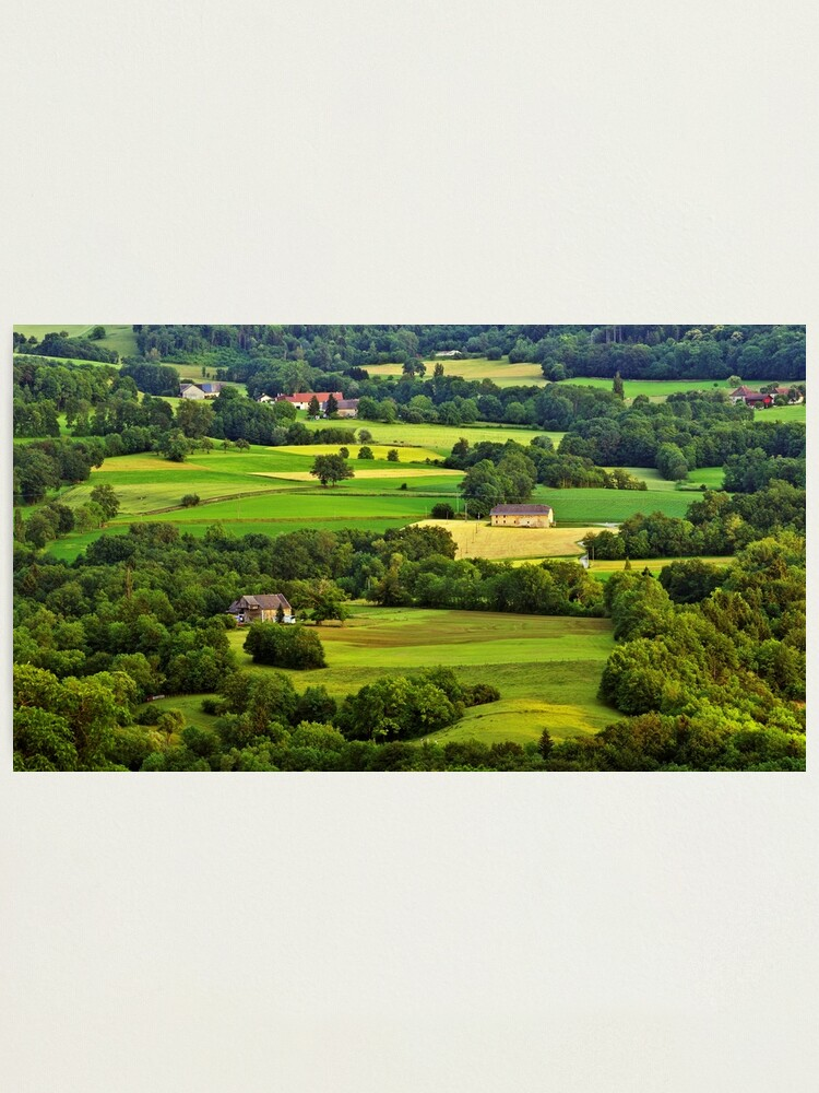 Alternate view of French rural landscape in Haute Savoie Photographic Print