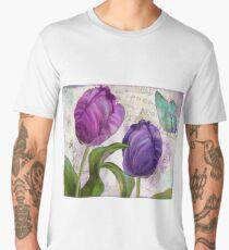 Purple Parrot Tulips Men's Premium T-Shirt