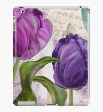 Purple Parrot Tulips iPad Case/Skin