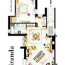 "Floorplan of Miranda's apartment from BBC's ""MIRANDA"" sitcom by Iñaki Aliste Lizarralde"