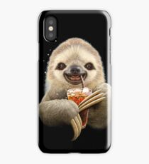 SLOTH & SOFT DRINK iPhone Case/Skin