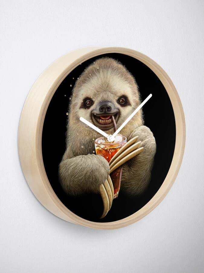 Alternate view of SLOTH & SOFT DRINK Clock