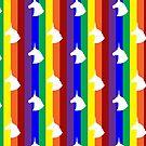 Rainbow Unicorn! Vertical Stripes! by Becca C. Smith