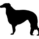 Borzoi Silhouette by Happy Dog Swag