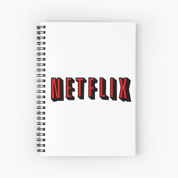 Netflix RED Spiral Notebook