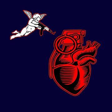 Heart grenade, Valentine Day, Valentine's Day Explosion, Love, Romance, Gift by MDAM