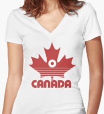 O canada day Women's Fitted V-Neck T-Shirt