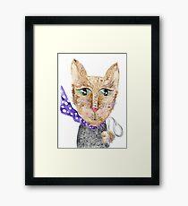 Matrix cat Framed Print