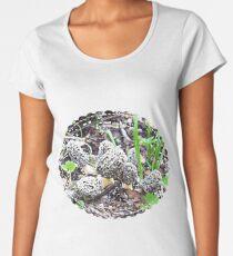 Beautiful Baby Grey Morel Mushrooms Women's Premium T-Shirt