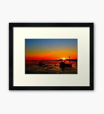Two Boats at Sunrise Framed Print