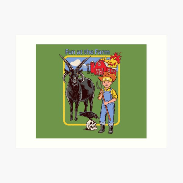 Fun at the Farm Art Print