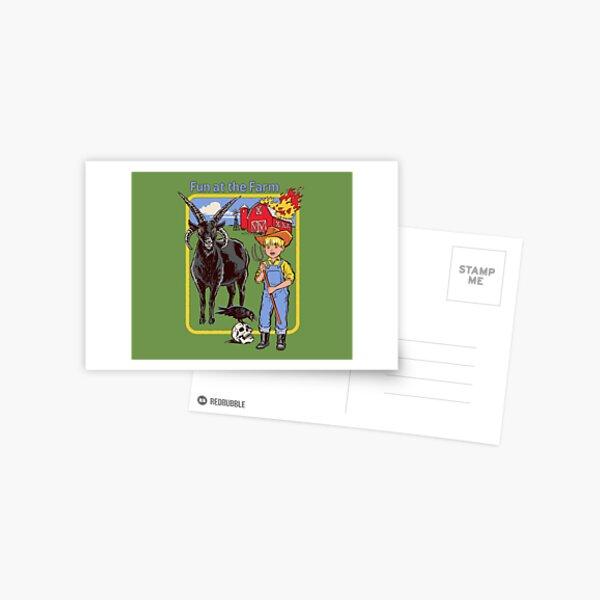 Spaß auf dem Bauernhof Postkarte