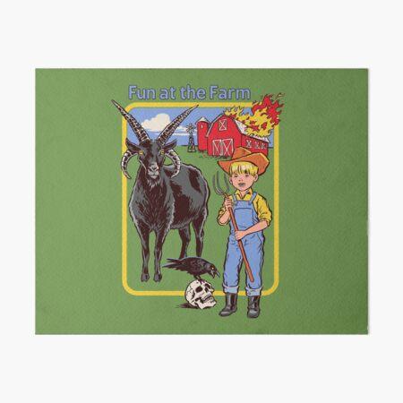 Fun at the Farm Art Board Print
