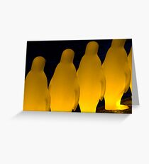 Penguins in Prague Greeting Card