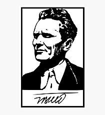 Josip Broz Tito with signature Photographic Print