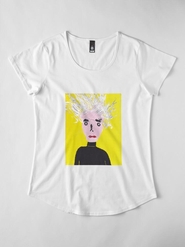 T-shirt premium femme ''Portrait inspiré d'Andy Warhol - Martin Boisvert - Faces à flaques': autre vue