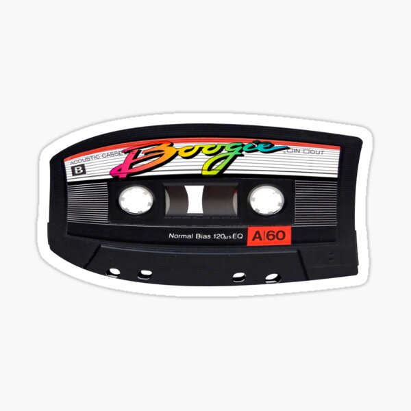 Boogie Cassette Pegatina
