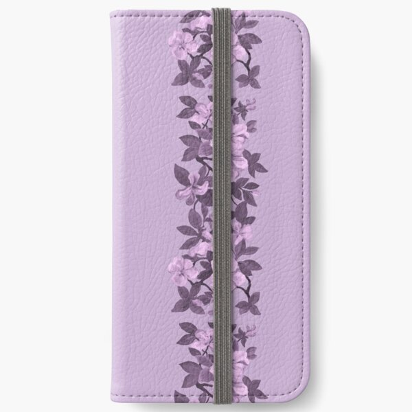 Amazing Azaleas - purple monochrome iPhone Wallet