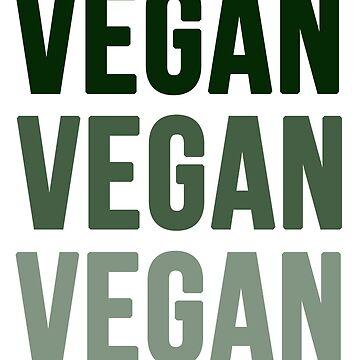 Dark Green Vegan Vegan Vegan Design by MichesMerch