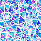 Cool Purple and Blue Mosaic Triangles by ElephantTrunk