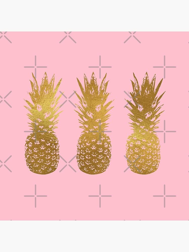 Rosa und Gold Ananas von theroyalsass