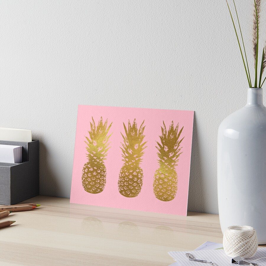 Pink and Gold Pineapple by Royal Sass