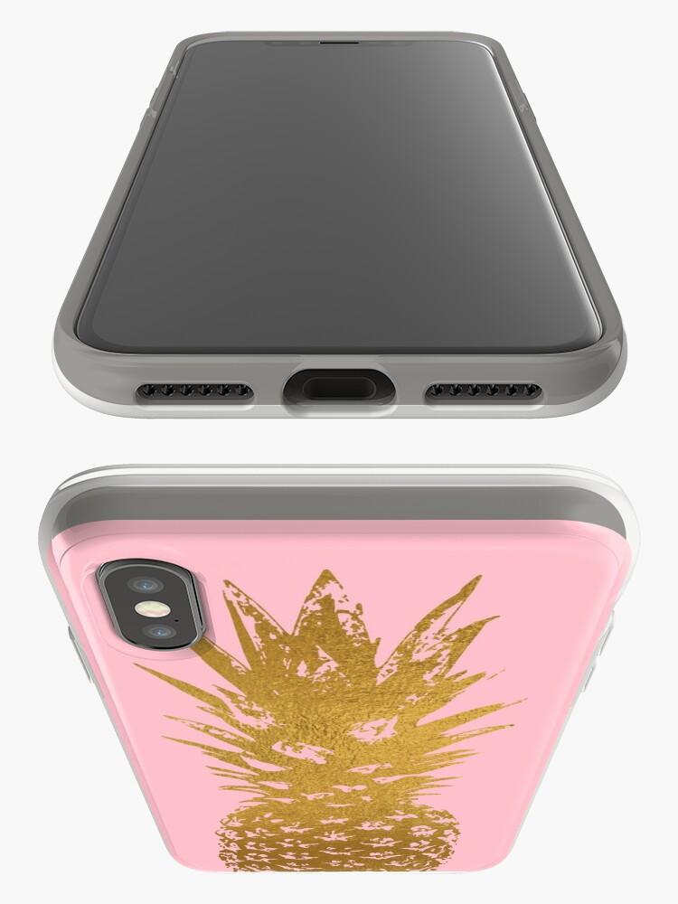 Alternative Ansicht von Rosa und Gold Ananas iPhone-Hülle & Cover