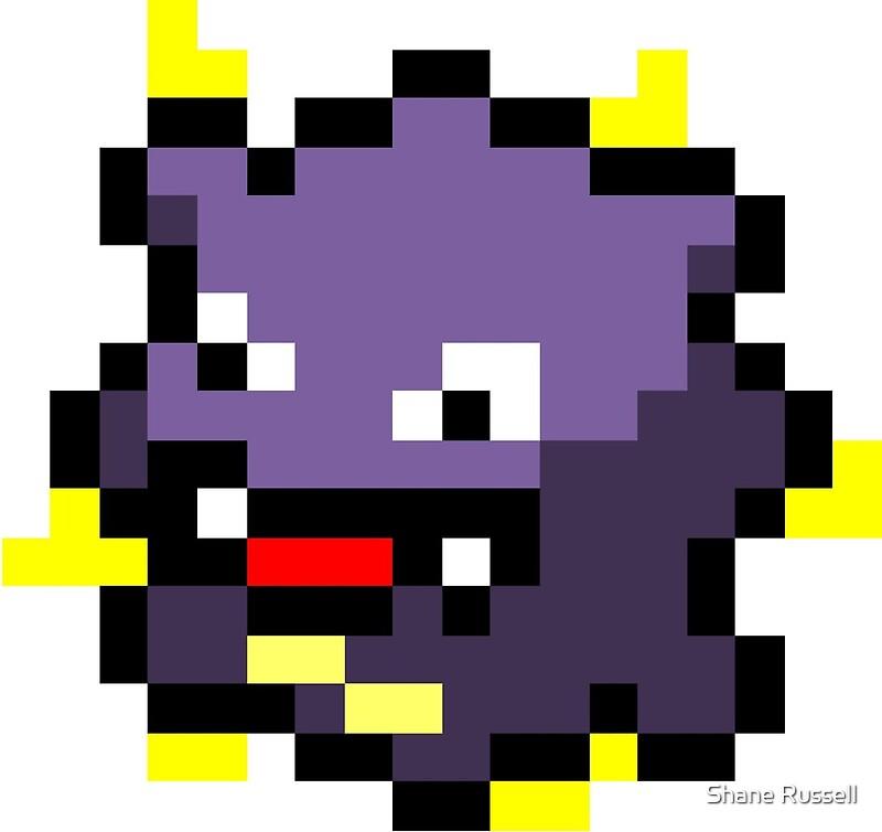 """""""Pokemon 8-Bit Pixel Koffing 109"""" Art Prints by Shane ..."""