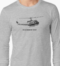 Huey Helicopter Graphic Long Sleeve T-Shirt