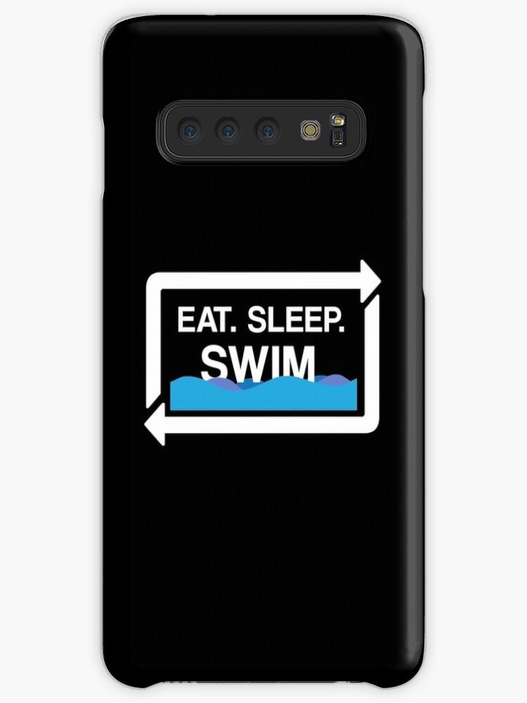 Essen Sie Schlaf-Schwimmen-Wiederholungs-Geschenk für Schwimmen-Schwimmer-T-Shirt StrickjackeHoodie Iphone Samsung Telefon-Kasten-Kaffeetasse-Tabletten-Kasten von Gift-Ideas