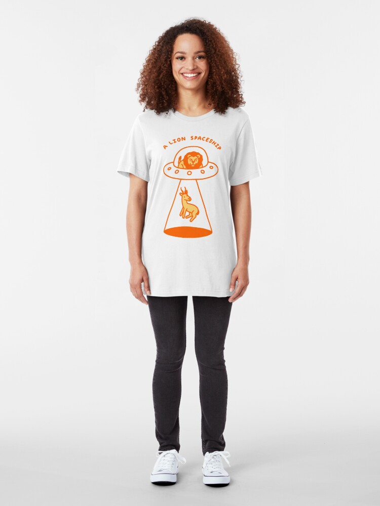 Alternate view of A Lion Spaceship Slim Fit T-Shirt