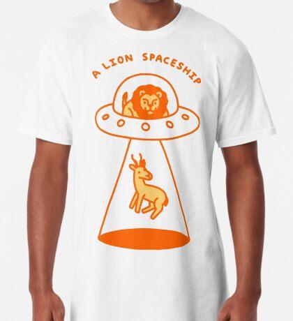 A Lion Spaceship Long T-Shirt