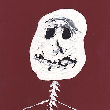 Squelette - Martin Boisvert - Faces à flaques by martinb1962