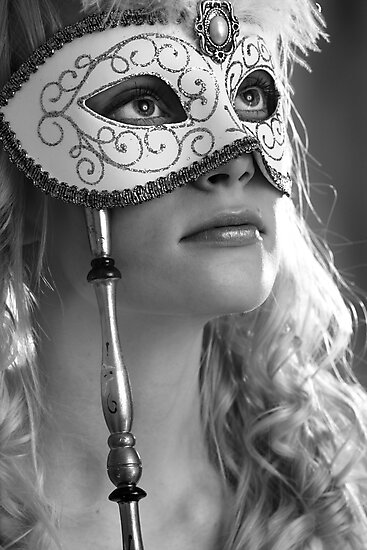 Woman with mask by Sandra Kemppainen