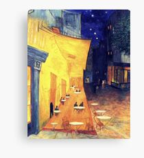 """My Version /  Homage  to Vincent   """"  The Cafe' Terrace  at Night  """"     My Paintings                        Canvas Print"""